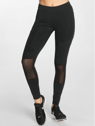 Urban Classics Damen Legging Tech Mesh Biker in schwarz