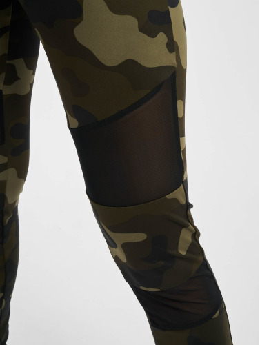 Urban Classics Mujeres Legging/Tregging Camo Tech Mesh in camuflaje