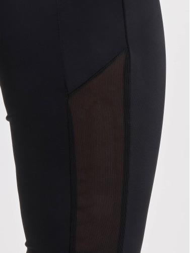 Urban Classics Mujeres Legging/Tregging Tech Mesh Stripe in negro