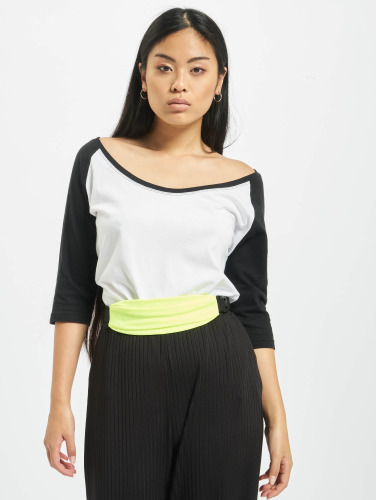 Urban Classics Damen Longsleeve Ladies 3/4 Contrast Raglan in weiß