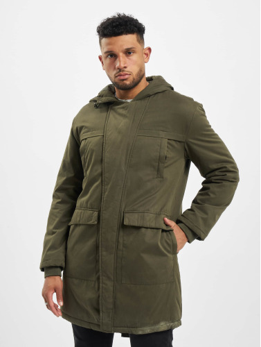 Urban Classics Herren Mantel Cotton Peached Canvas in olive Gut Verkaufen Verkauf Online Fjj3rn