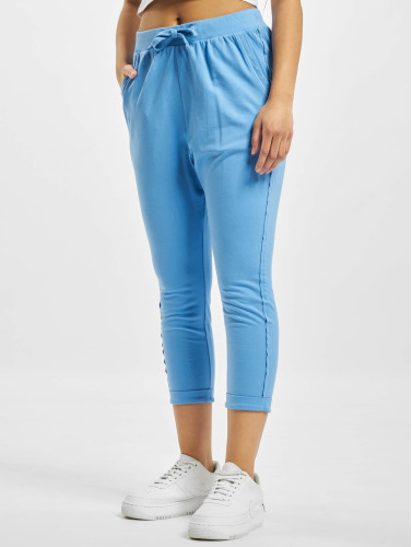 Urban Classics Mujeres Pantalón deportivo Open Edge Terry Turn Up in azul