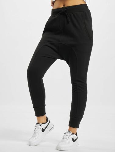 Urban Classics Mujeres Pantalón deportivo Light Fleece Sarouel in negro