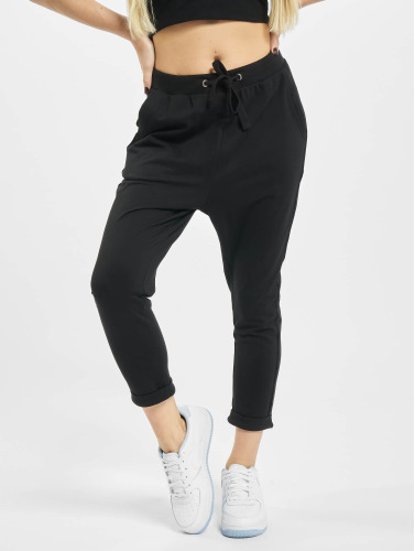 Urban Classics Mujeres Pantalón deportivo Open Edge Terry Turn Up in negro