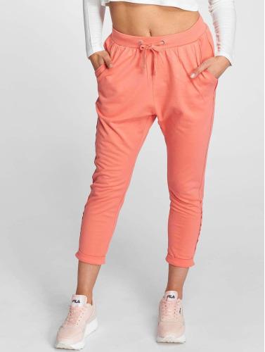 Urban Classics Mujeres Pantalón deportivo Open Edge Terry Turn Up in rosa
