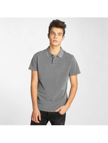 Urban Classics Herren Poloshirt Garment Dye Pique in grau