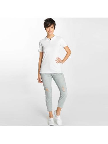 Urban Classics Damen Poloshirt Wash Polo in weiß
