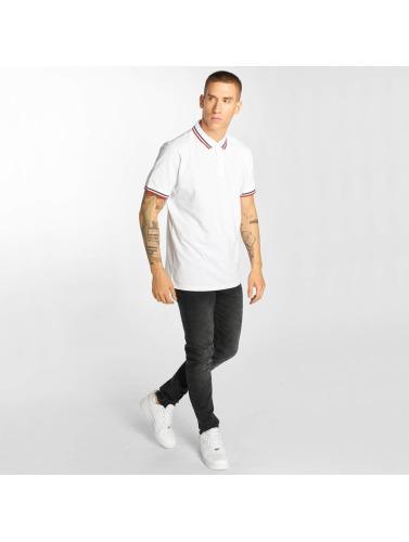 Urban Classics Herren Poloshirt Double Stripe in weiß