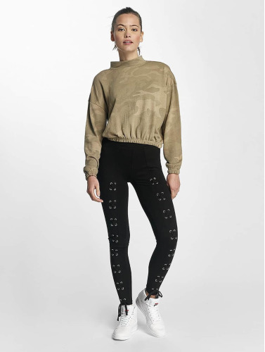 Urban Classics Damen Pullover Camo in beige