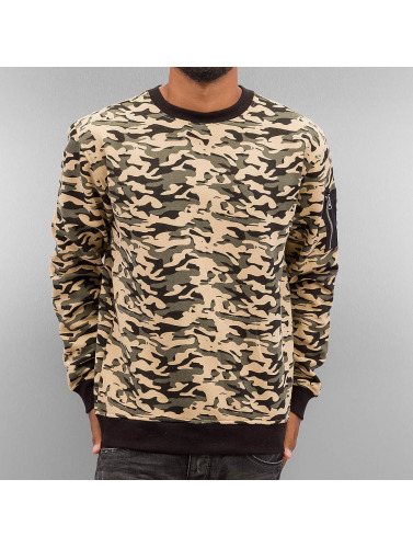Urban Classics Herren Pullover Sweat Camo Bomber in camouflage