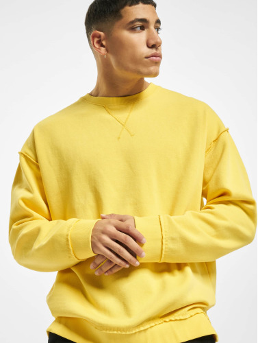 Urban Classics Herren Pullover Oversized Open Edge in gelb