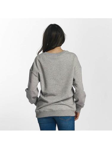 Urban Classics Damen Pullover OversizeSweatshirt in grau