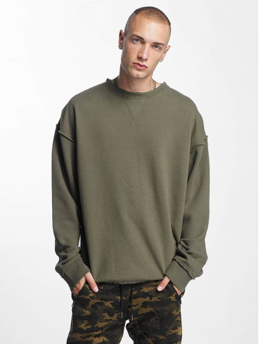 Urban Classics Herren Pullover Oversized Open Edge in grün