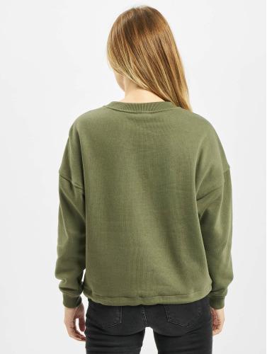 Urban Classics Damen Pullover Ladies Oversized in olive