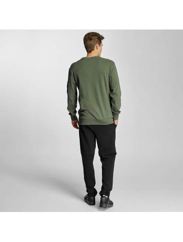 Urban Classics Herren Pullover Interlock Bomber in olive