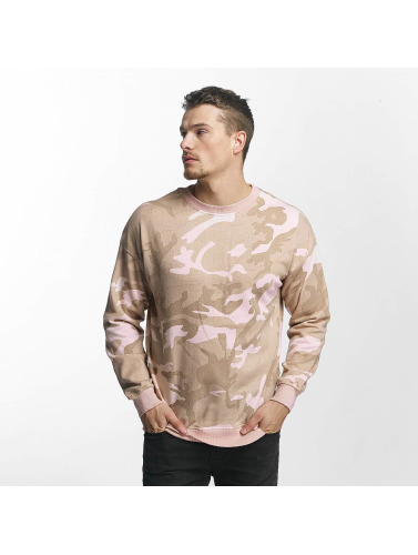Urban Classics Herren Pullover Camo in rosa