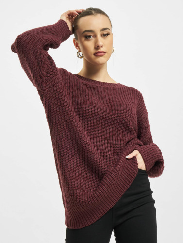 Urban Classics Damen Pullover Basic Oversized in rot