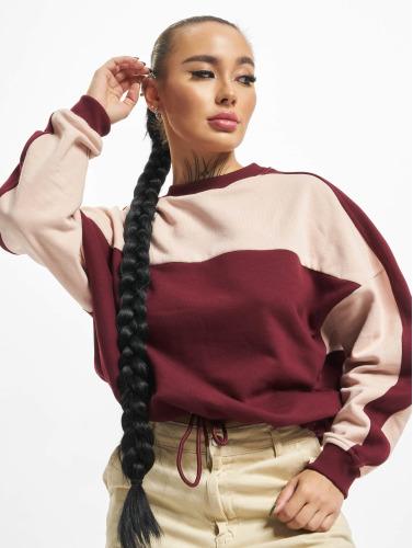 Urban Classics Damen Pullover Two Tone in rot