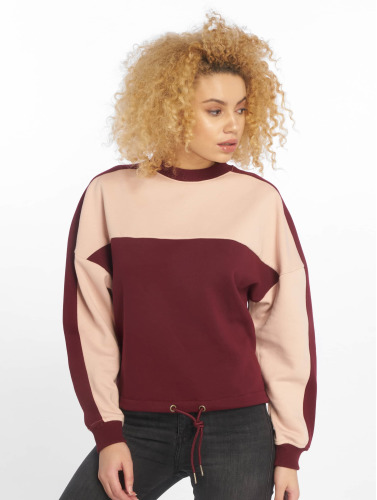 Urban Classics Damen Pullover Two Tone in rot