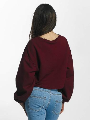 Urban Classics Damen Pullover Overshort in rot