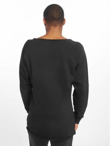 Urban Classics Herren Pullover Long Open Edge Terry in schwarz
