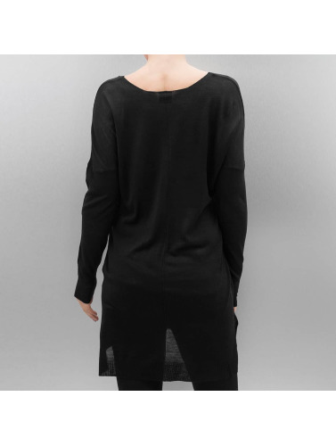Urban Classics Damen Pullover Ladies Fine Knit Oversize V-Neck in schwarz