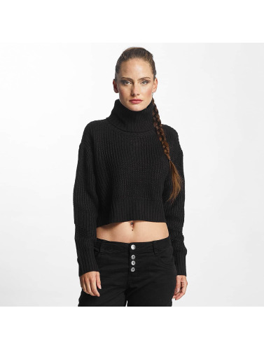 Urban Classics Damen Pullover Turtleneck in schwarz
