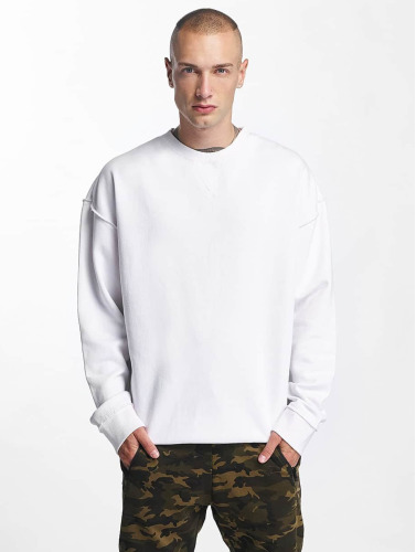 Urban Classics Herren Pullover Oversized Open Edge in weiß