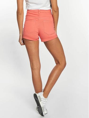 Urban Classics Damen Shorts Twill Highwaist Stretch in rot