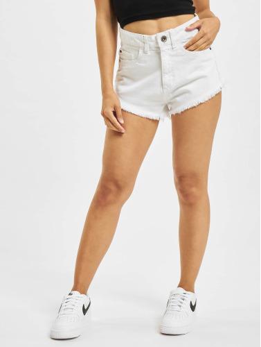 Urban Classics Damen Shorts Denim in weiß