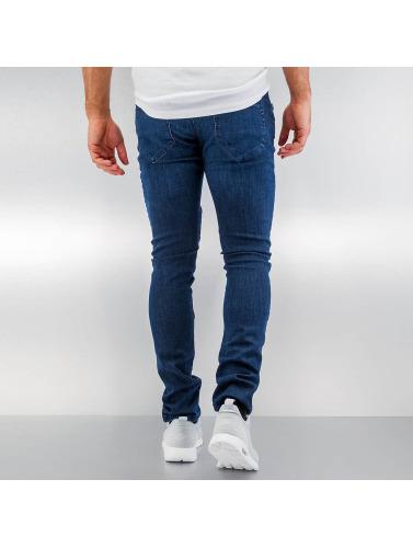 Urban Classics Herren Skinny Jeans Slim Fit Biker In Blau