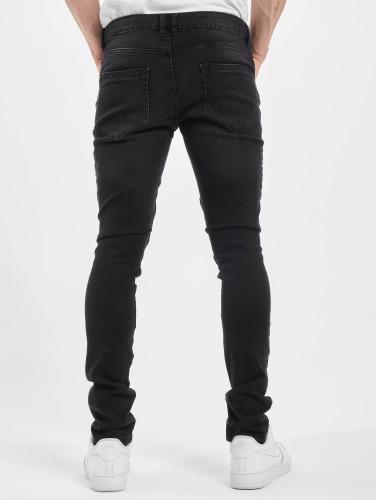 Urban Classics Herren Skinny Jeans Slim Fit Biker in schwarz