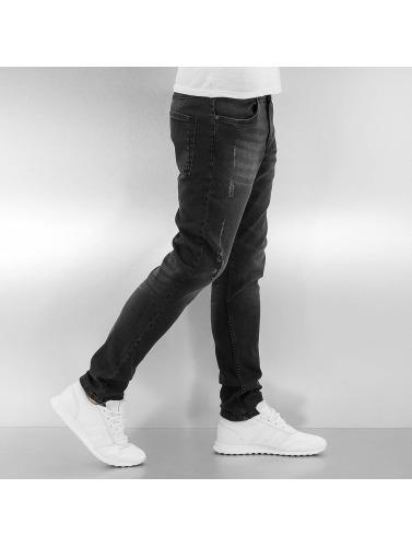 Urban Classics Herren Skinny Jeans Ripped in schwarz