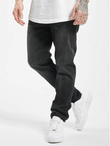 Urban Classics Herren Straight Fit Jeans Stretch Denim in schwarz