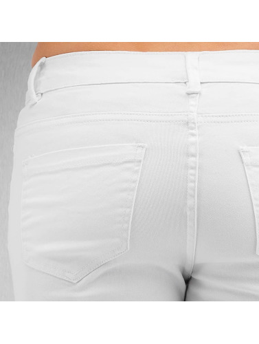 Urban Classics Damen Straight Fit Jeans Ladies Cut Knee in weiß
