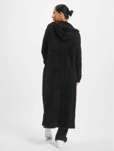 Urban Classics Damen Strickjacke Hooded Feather in schwarz