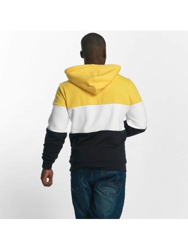 Urban Classics Hombres Sudadera 3 Tone in amarillo