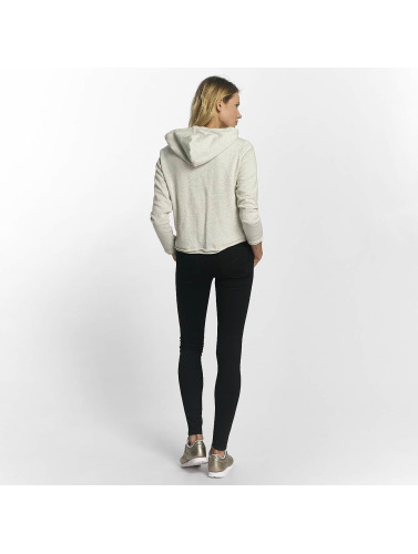 Urban Classics Mujeres Sudadera Ladies Cropped in blanco