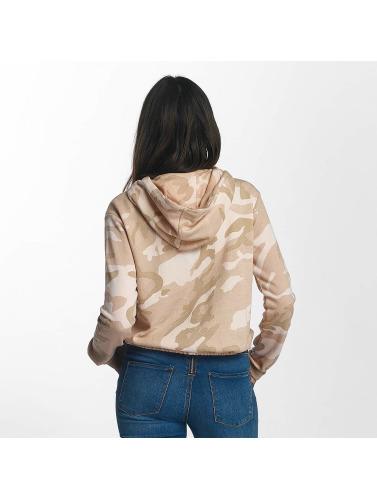 Urban Classics Mujeres Sudadera Camo Cropped in camuflaje