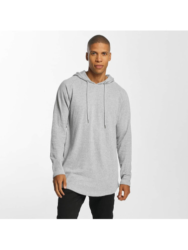Urban Classics Hombres Sudadera Long Shaped Terry in gris