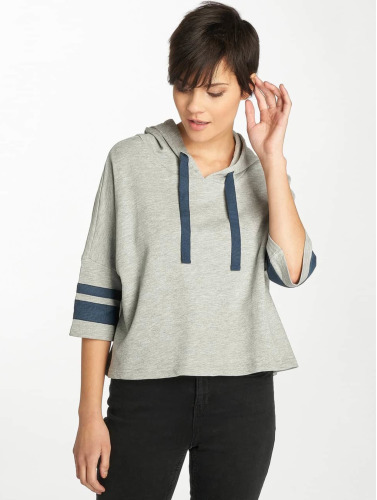 Urban Classics Mujeres Sudadera Taped Cropped in gris
