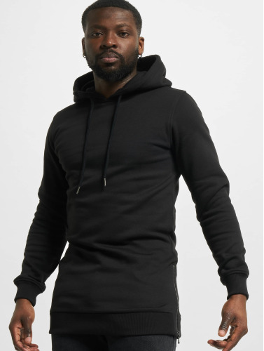 Urban Classics Hombres Sudadera Long Side in negro