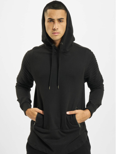 Urban Classics Hombres Sudadera Pleat Sleeves Terry HiLo in negro