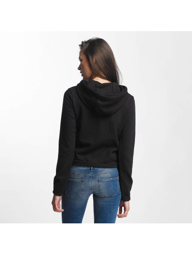 Urban Classics Mujeres Sudadera Interlock Short in negro