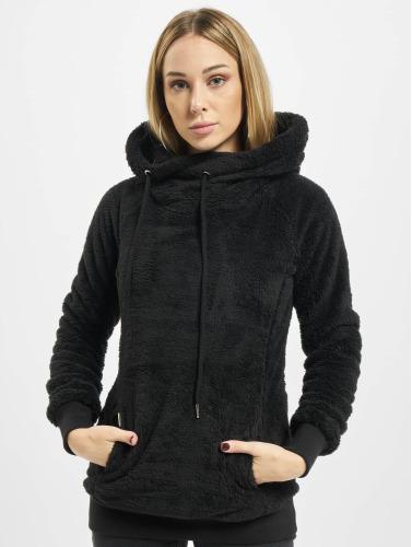 Urban Classics Mujeres Sudadera Long Teddy in negro