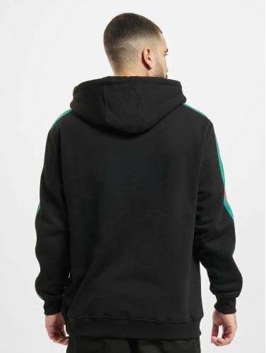 Urban Classics Hombres Sudadera Stripe Hoody in negro