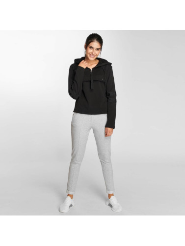 Urban Classics Mujeres Sudadera Peached Terry Troyer in negro
