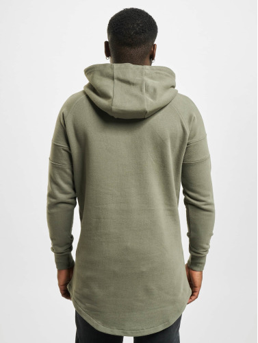 Urban Classics Hombres Sudadera Long Shaped in oliva