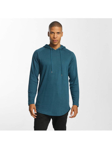 Urban Classics Hombres Sudadera Long Shaped Terry in turquesa