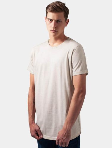 Classiques Urbains Herren T-shirt En Forme De Long Froid Colorant Beige